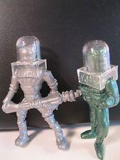 LIDO FUTUREMEN SPACEMEN SET WITH HELMETS ARCHER 1950's ORIGINAL MINT VINTAGE