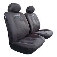 Waterproof Charcoal Canvas Seat Covers For ISUZU DMAX Dual Cab 2003-2019