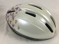 White Bell Bicycle Helmet Defender Bird Pattern Large 7-3/8 to 7-3/4 Made in USA