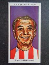 LE SOLEIL soccercards 1978-79 - STANLEY MATTHEWS - ANGLETERRE #293