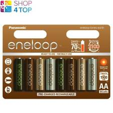 8 PANASONIC ENELOOP TONES EARTH RECHARGEABLE AA HR6 BATTERIES 1.2V 1900mAh