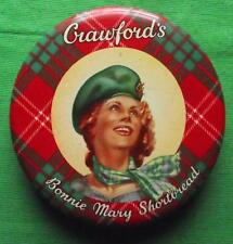 c1950 Edinburgh Crawford Shortbread Bonnie Mary Tartan Tartanware Tin B