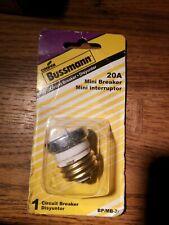Bussmann Bp/Mb-20 Mini Breaker Plug, 20 Amp