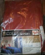 """Vintage Sears Tough Cord Pinch Pleated Drapes  New in Pakage Rust color 84"""" long"""