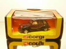 CORGI 346 CITROEN 2CV CHARLESTON - BLACK + DARK RED L10.0cm - EXCELLENT IN BOX
