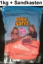 Zaubersand Magic Sand 1kg + Sandkasten Fließsand Knetsand Therapiesand Spielsand