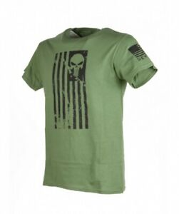 US Navy Seals Usn Army Devgru Skull Flag USA Flagge tshirt oliv green shirt XL