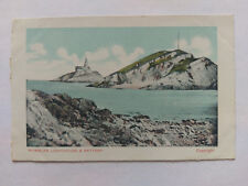 Mumbles Swansea Vintage colour postcard c1910 Lighthouse printed in Germany