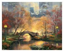 Not Framed Canvas Print Home Decor Wall Thomas kinkade  central park in the fall