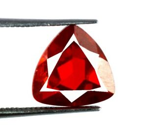 6.20 Ct Trillion Orange Spessartine Garnet Gemstone 100% Natural Certified V8488