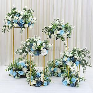 Flower Rack Wedding Metal Geometric Column Vases Stand Prop Party Decor 40/60/cm