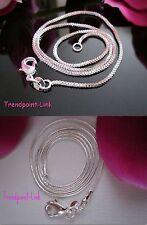 Schlangenkette Venezianerkette Halskette 40 45 50 55 60 cm 1mm 925 Silber PL Neu