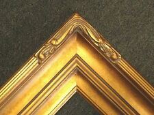 "5"" WIDE Gold Leaf Ornate photo family Oil Painting Wood Picture Frame 607G 11x14"