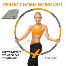 Weighted Gym Hula Hoop Fitness Exercise Ring 1.1KG Soft & Adjustable Kids/Adult