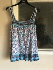 Ladies Blue Mix Strappy Top by Marks & Spencer Size 18