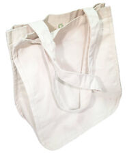 Green Essentials Large Organic Cotton Canvas Shopping Bag -Reinforced Stitching