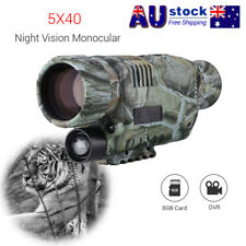 Night Vision Cam Goggles Monocular IR Surveillance Gen Hunting Scope Free 8GB AU