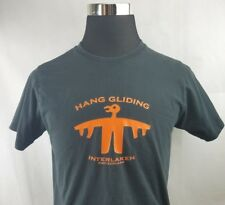 Hang Gliding Interlaken Switzerland Men's T-Shirt Black Size:XL (Fits like M)