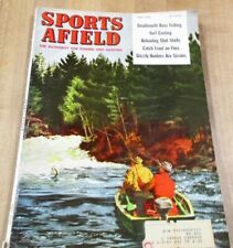 1955 May  Sports Afield Magazine Bill Gregg Cover Artist Reloading Trout  >