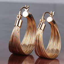 Design Snap Closure earring 18k gold filled lady fashion gorgeous hoop earring