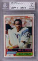 Kellen Winslow San Diego Chargers 1981 Topps Rookie Card RC graded BGS PSA 7 NM