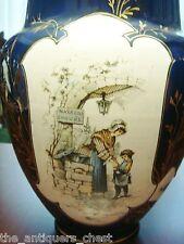 HAUTIN & BOULANGER Choisy-le-Roi, France- ca 1850s-1890s, black/dark blue vase[1
