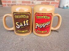 Vintage Grandma's Name Brand SALT and PEPPER SHAKERS Since 1888