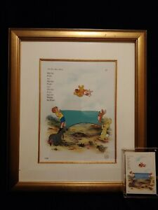 Winnie The Pooh & The Blustery Day Blanket Toss Framed Cel Plus Invitation Card