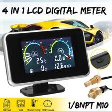 4 in 1 LCD Car Digital Gauge Volt/Oil Pressure/Water temperature/Fuel Meter M10