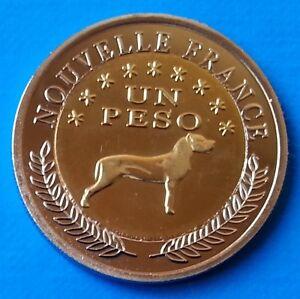 Araucania & Patagonia 1 peso 2013 UNC Dog Bi-metallic bimetal unusual coinage