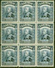 Timbres bleus avec 9 timbres