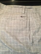 Nike Mens Climalite Golf Shorts- 36W Gray Plaid