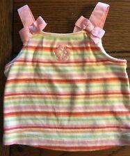 Gymboree Girls Beach Shack Striped Bow Tank Top Size 3-6 Months