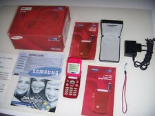 SAMSUNG SGH-A400 LIMITED EDITION RED ESEMPLARE UNICO 2001 + SCATOLA ACCESSORI