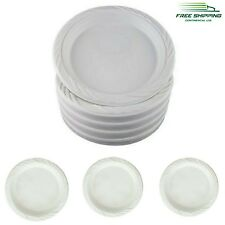 """100 Plastic Plates 9"""" Party Wedding Disposable Dinner Dessert White Dishes NEW"""