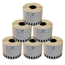 6 REFILL ROLLS DK22205 BROTHER COMPATIBLE CONTINUOUS LABELS 62mmx30.48m DK 22205