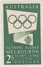 (AM135) 1954 Australia mint 2/- Green Olympics SG290