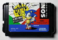 SEGA MASTER SYSTEM GENISIS CONSOLE GAME - SONIC THE HEDGEHOG - 1991 NTSC-J Japan