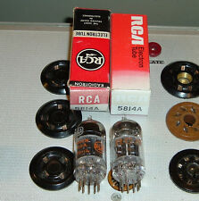 2 TUBES RCA 5814A NOS NIB NEW black plates 1 triple mica WE Hickok 539B tt