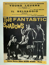 THE FANTASTIC SHADOWS THEME FOR YOUNG LOVERS THE SAVAGE ITALY SHEET MUSIC