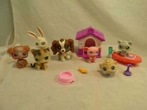 Lot of 7 Littlest Pet Shop Toys & Accessories Cats Dogs Mouse Hamster Bunny #6