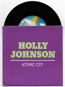 FRANKIE GOES TO HOLLYWOOD HOLLY JOHNSON ATOMIC CITY 7 INCH SPAIN PROMO SINGLE