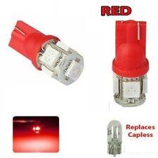 2 x T10 501 RED LED 5050 W5W 5 SMD Car Van Side Interior Wedge Light Bulb 12v