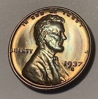 1937-S Lincoln Cent 1C Penny MS High Grade Uncirculated RB Gem
