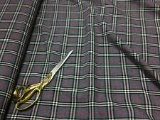 *NEW* Top Quality Large Checked Poly Wool Suiting 2 Fabric Material *FREE P&P*
