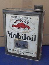 "BIDON ANCIEN HUILE  GARAGE   "" MOBILOIL   ARTIC   ""  ANNEE   1930"