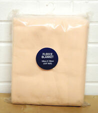 """New """"Super Soft"""" fleece baby cot blanket in apricot, 150cm x 100cm, Free Post"""