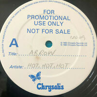 """Arrow –  Hot-Hot-Hot  1983  UK Vinyl 12""""  Promo  ARROX1   NMINT   UNPLAYED"""