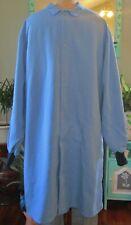 "Best Medical Unisex L/S Lab Coat Knit cuffs W/ Pocket 44"" Length Blue Size 2X"