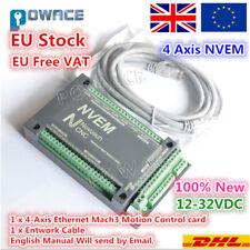 【UK+EU】4 Axis NVEM 200KHz Ethernet MACH3 Card Motor Driver CNC Motion Controller